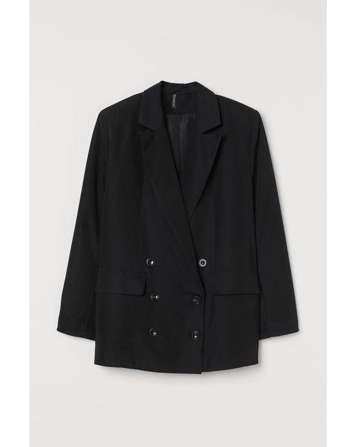 H&M Black Oversized Jacket