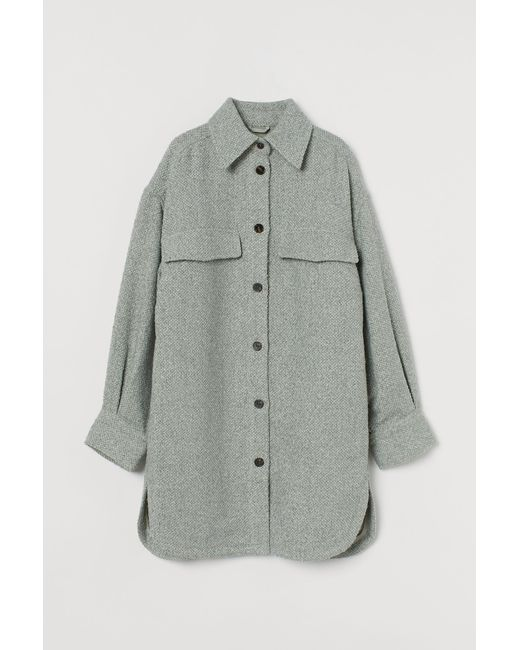 H&M Green Lange Blusenjacke
