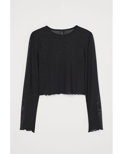 H&M Black Long-sleeved Top