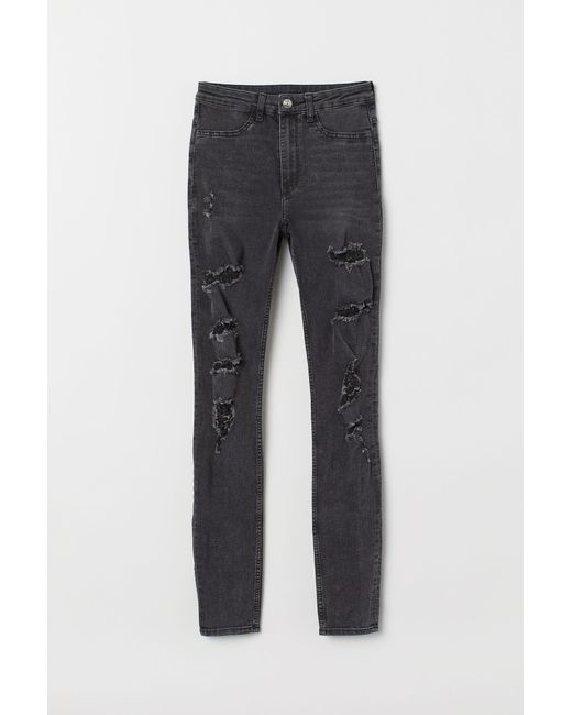 H&M Gray Super Skinny High Jeans