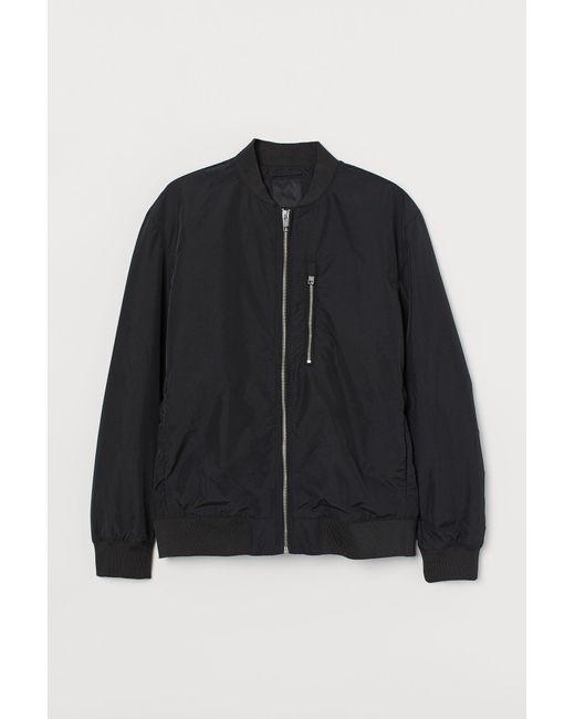 H&M Pilotenjacke in Black für Herren