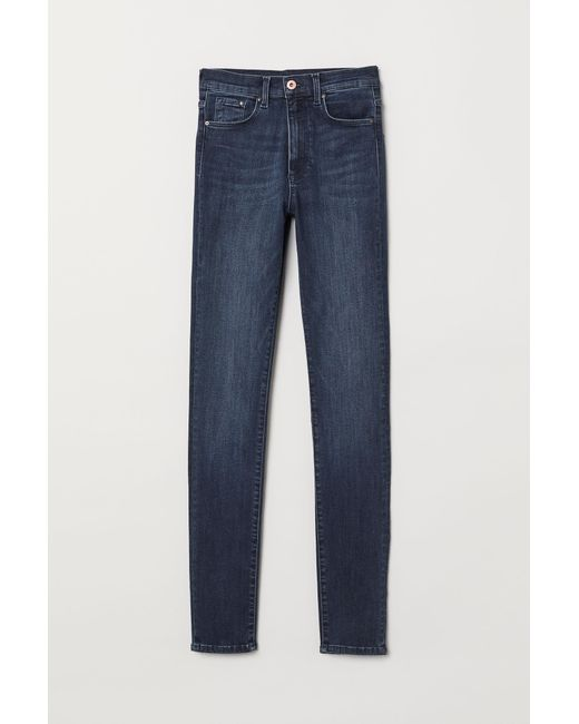 H&M - Blue Shaping Skinny High Jeans - Lyst