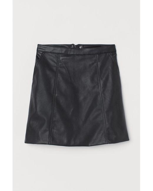 Jupe trapèze H&M en coloris Black