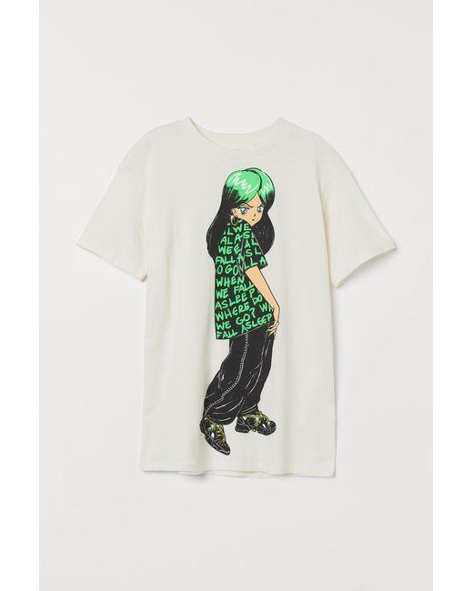 T-shirt oversize imprimé H&M en coloris White