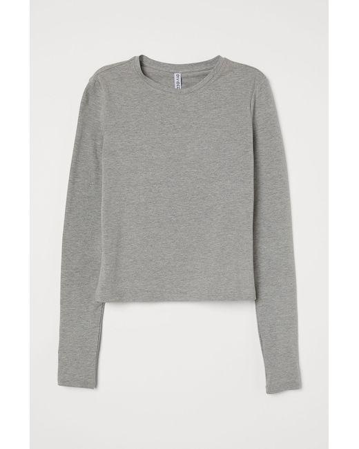 H&M Gray Langarmshirt