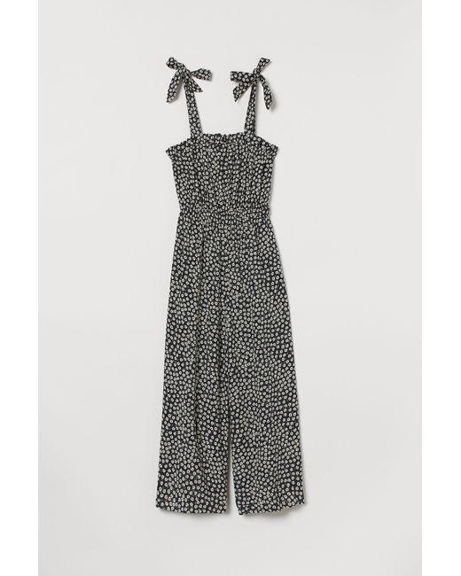 H&M Black Jumpsuit mit Volant
