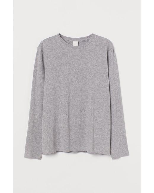 H&M Gray Langarmshirt aus Jersey