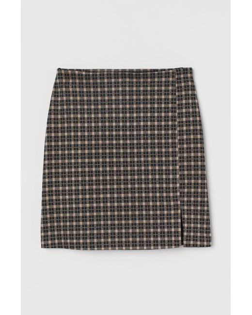 H&M Natural Fitted Jersey Skirt