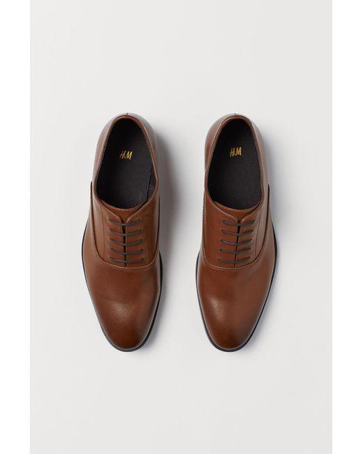 H&M Oxfordschuhe in Natural für Herren