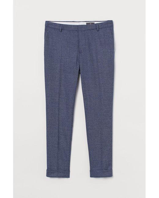 H&M Anzughose Skinny Fit in Blue für Herren