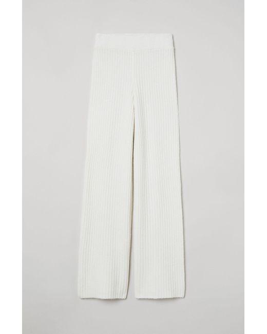 H&M White Strickhose