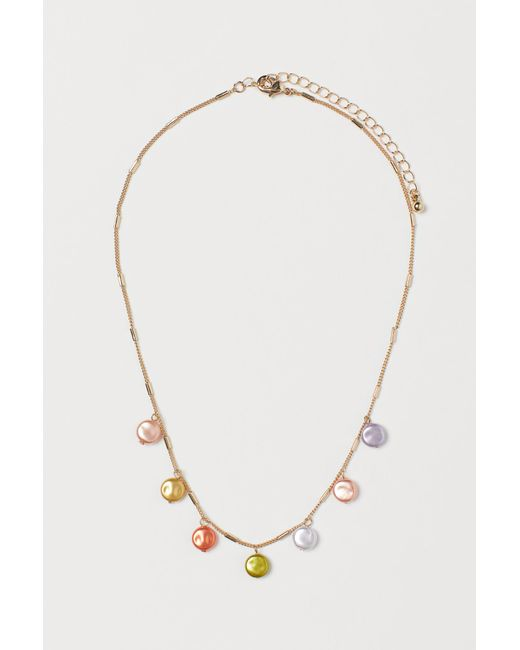 H&M Pink Short Necklace With Pendants