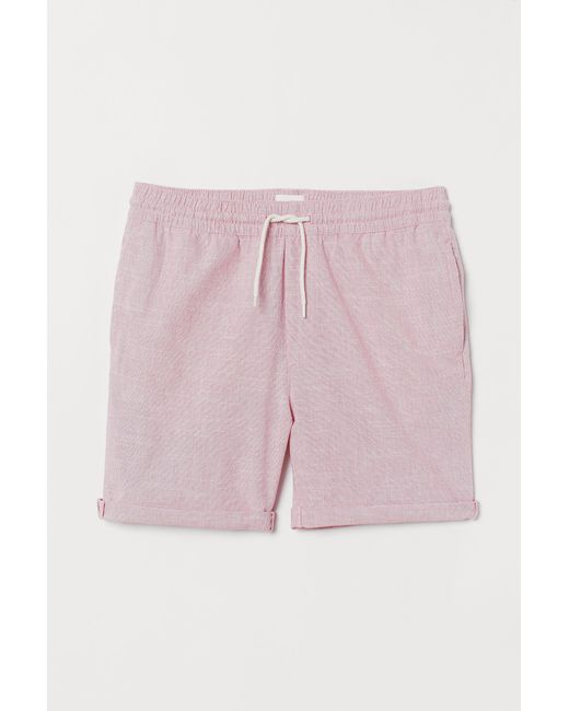 Short en coton H&M pour homme en coloris Pink