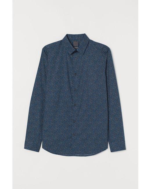 H&M Overhemd Van Premium Cotton in het Blue voor heren