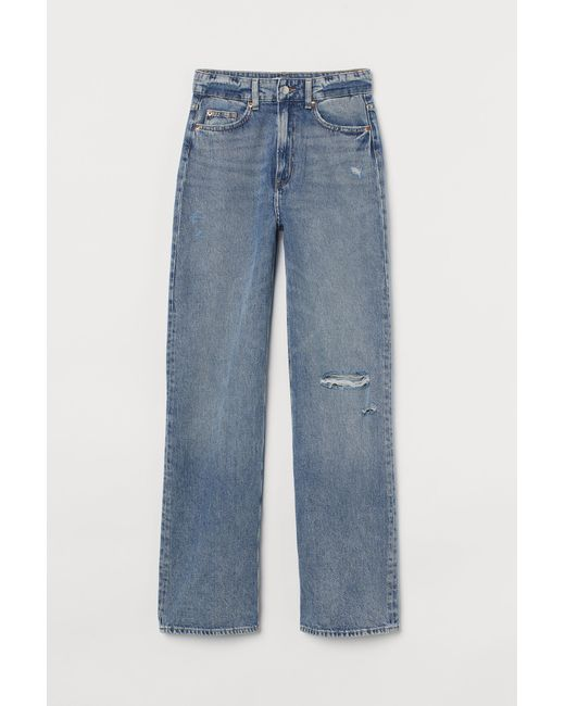 H&M Blue Wide High Jeans