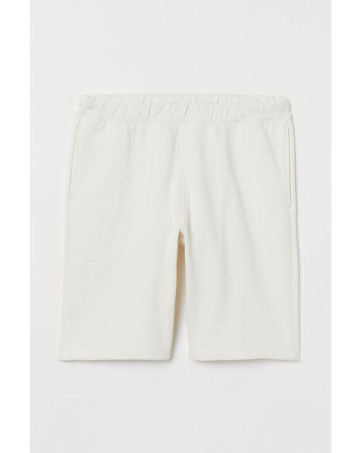 H&M Joggershorts aus Baumwolle in White für Herren
