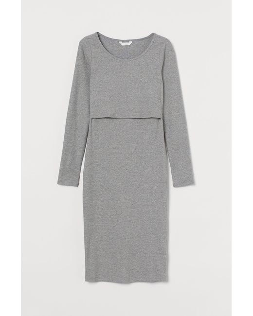 MAMA Robe d'allaitement H&M en coloris Gray