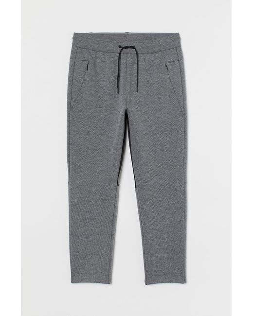 H&M Gray Sportjoggers aus Jersey