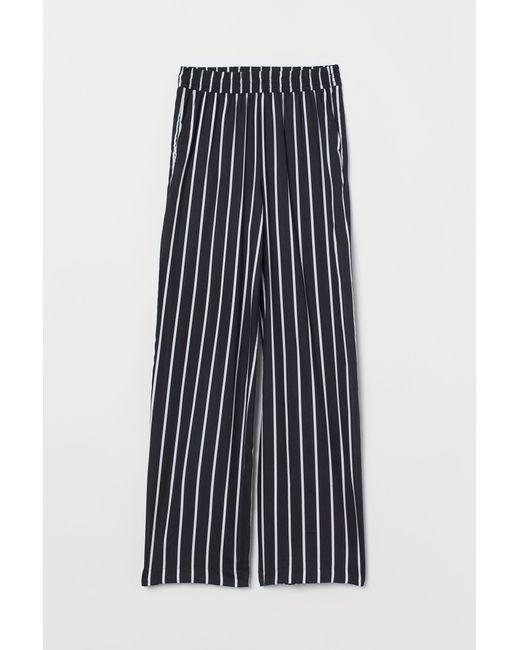 H&M Black Weite Hose