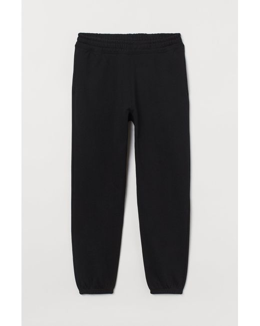 H&M Black Cotton joggers for men