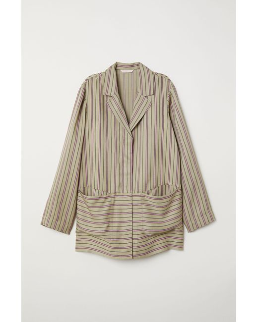 H&M Green Striped Jacket
