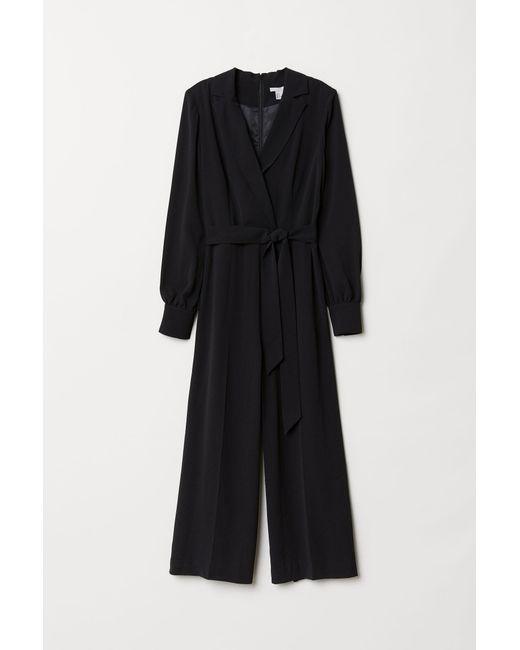H&M Black Eleganter Jumpsuit