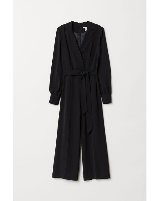 H&M Black Eleganter Jumpsuit