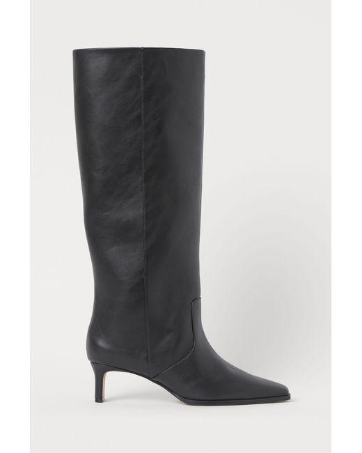 H&M Black Stiefel