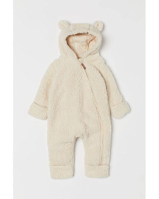 H&M - Natural Pile All-in-one Suit - Lyst