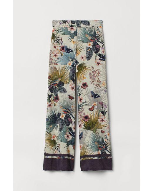 H&M White Weite Hose