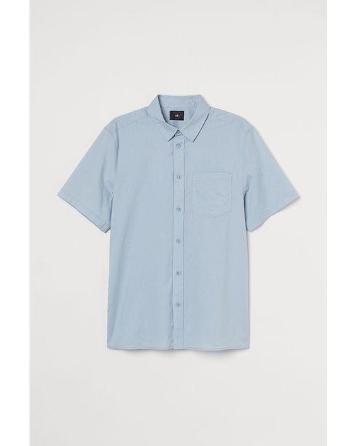 Chemise en coton H&M pour homme en coloris Blue