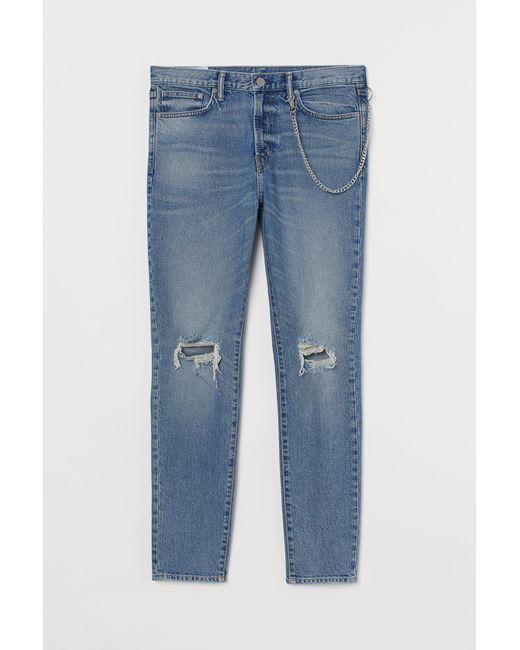 H&M Tapered Jeans in Blue für Herren
