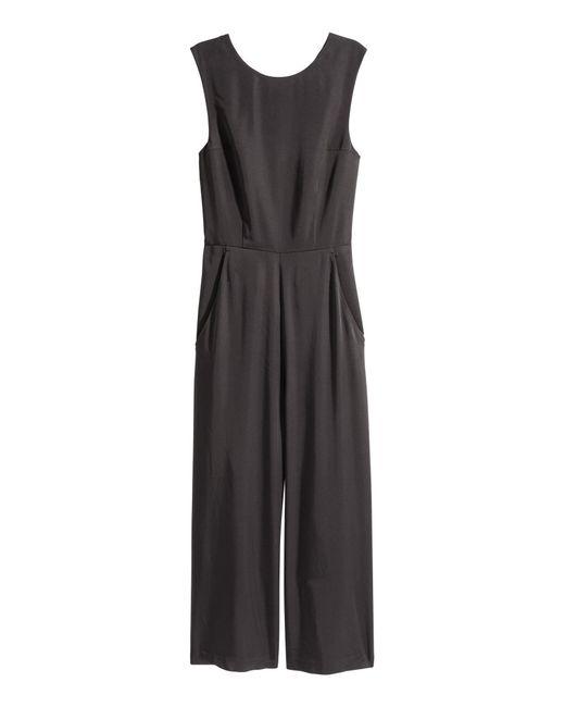H&M Black Jumpsuit mit Schnürung