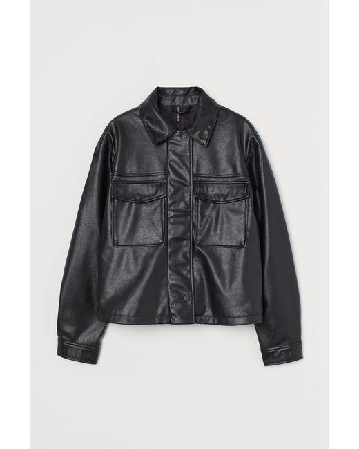 Veste courte H&M en coloris Black