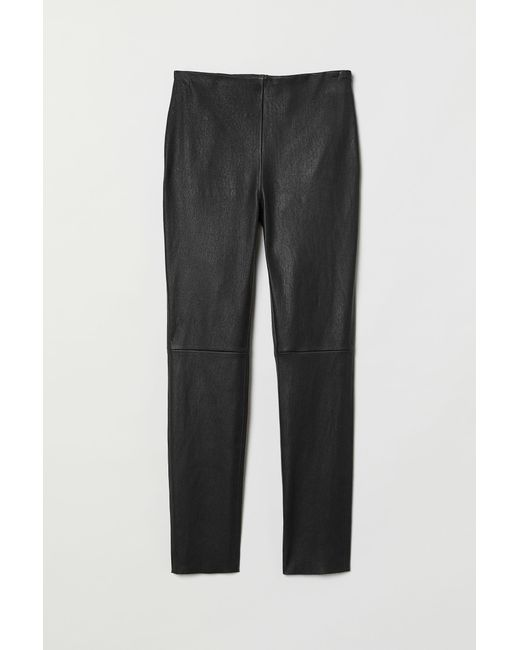 H&M Black Lederhose