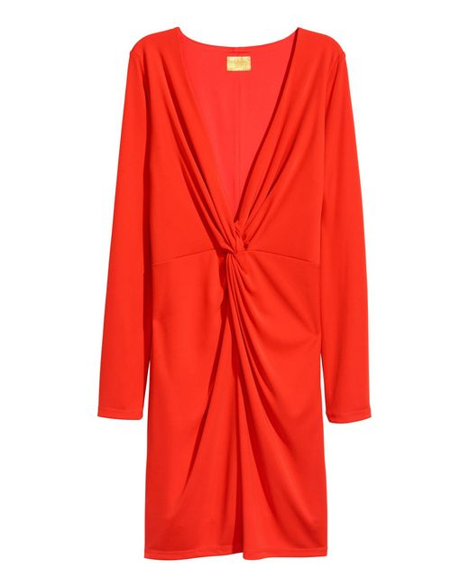 H&M Red Fitted Dress