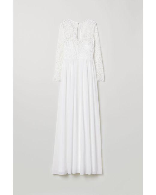 Hm Wedding Dress.Women S White Lace Wedding Dress