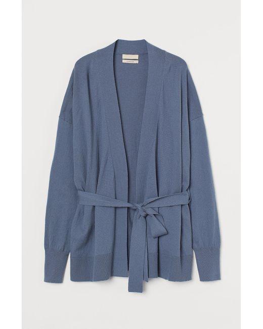 H&M Blue Cardigan aus Kaschmirmix