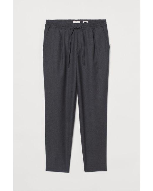 H&M Joggpants aus Wollmix in Gray für Herren