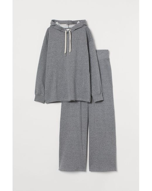 H&M Gray MAMA Set aus Sweatstoff
