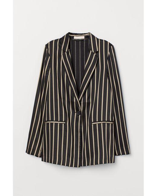 H&M Black Striped Jacket