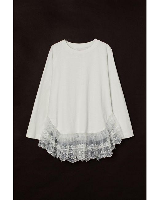 H&M White Shirt mit Spitze