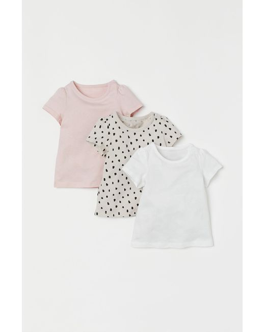Lot de 3 T-shirts H&M en coloris Natural