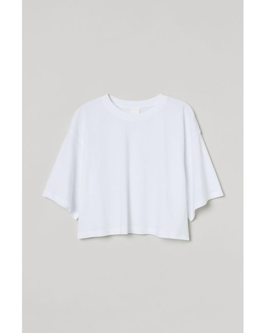 T-shirt Cropped H&M en coloris White