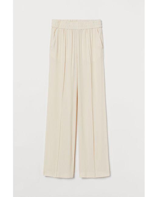 H&M White Elegante Hose aus Lyocellmix
