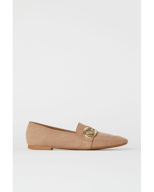 H&M Loafers in het Natural