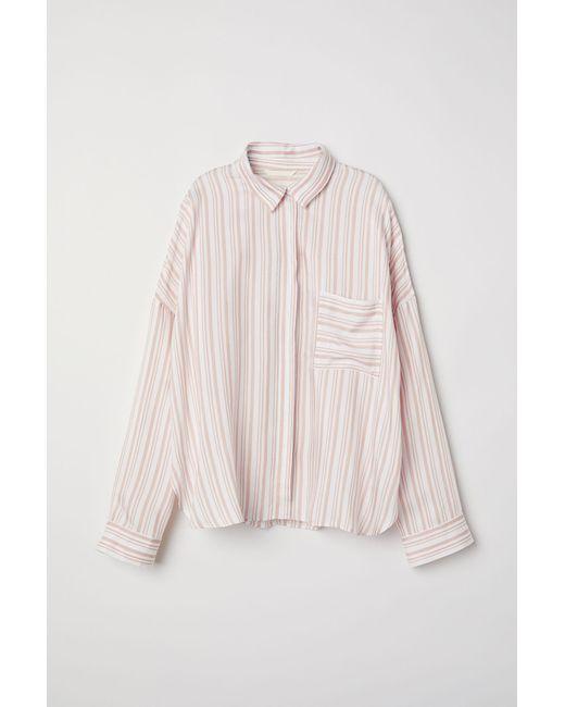 Chemise ample H&M en coloris Pink