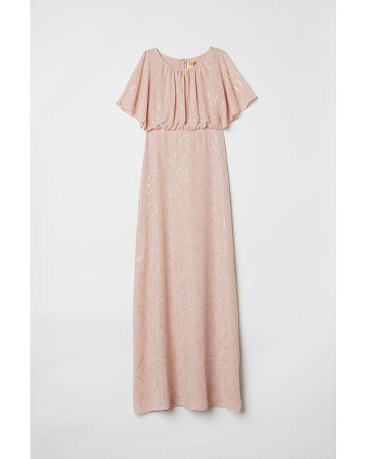H&M Orange Langes Kleid