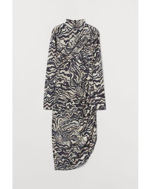 H&M Brown Draped Dress