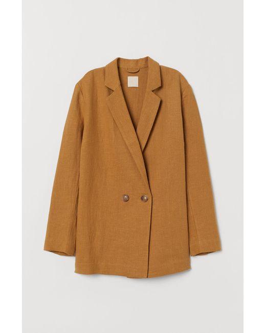 H&M Natural Linen-blend Jacket